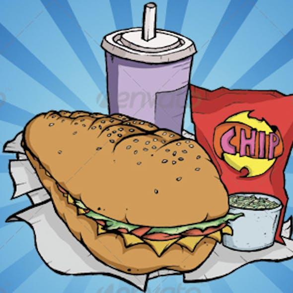 Cartoon Sub Meal