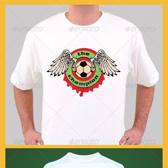 football champion t-shirt design