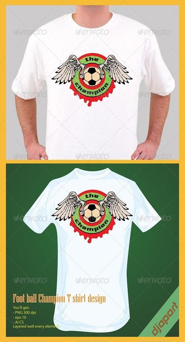 football champion t-shirt design - Sports & Teams T-Shirts