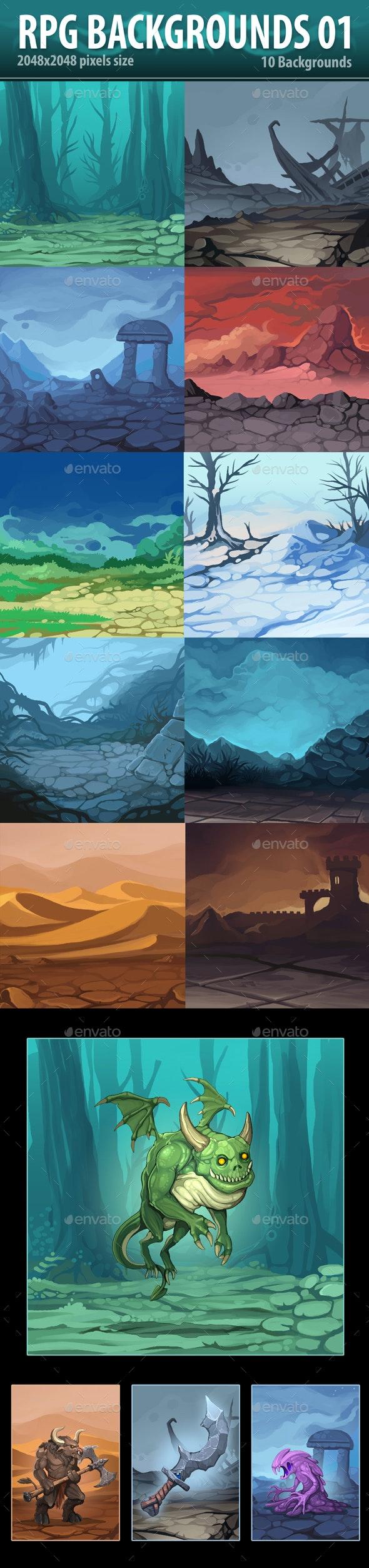 RPG Backgrounds 01 - Backgrounds Game Assets