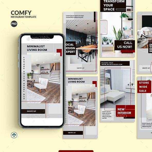 Comfy - Interior Instagram Stories Template