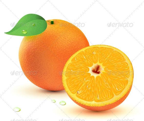 Juicy oranges  - Food Objects