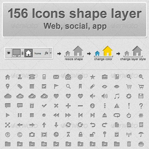 156 Web Icons - Shape Layer