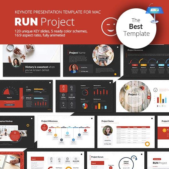 Run Project Keynote Presentation Template