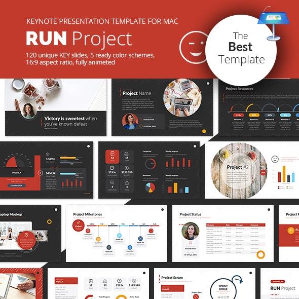 Run Project Keynote Presentation Template - Business Keynote Templates