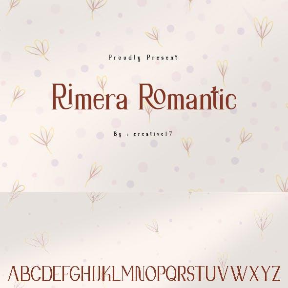 Rimera Romantic Serif Font
