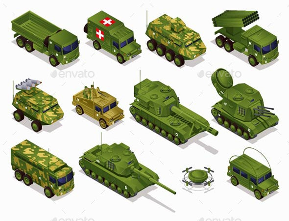 Military Equipment Combat Vehicles - Man-made Objects Objects