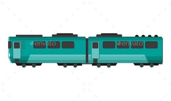 Passenger Express Train - Man-made Objects Objects