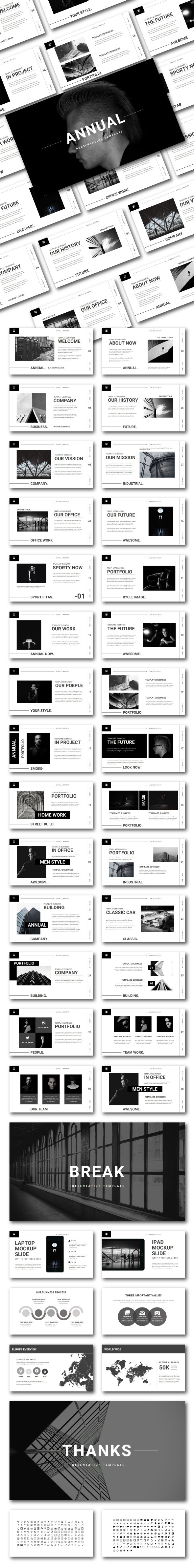 Annual Power Point (PPT & PPTX) - Creative PowerPoint Templates