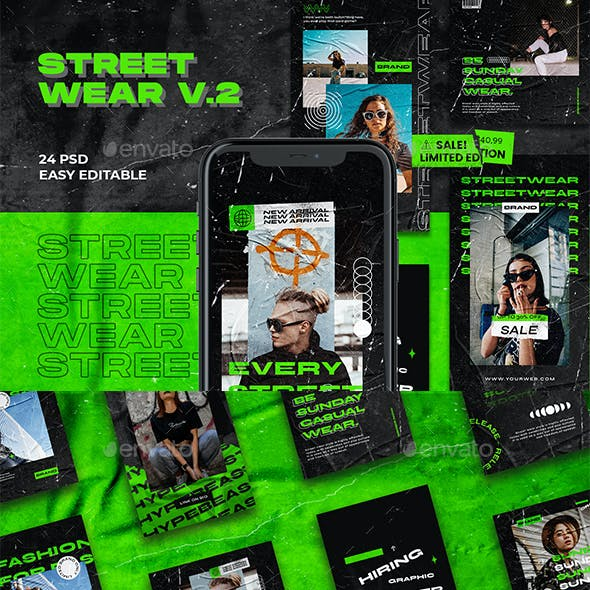 Streetwear V.2 Instagram Template