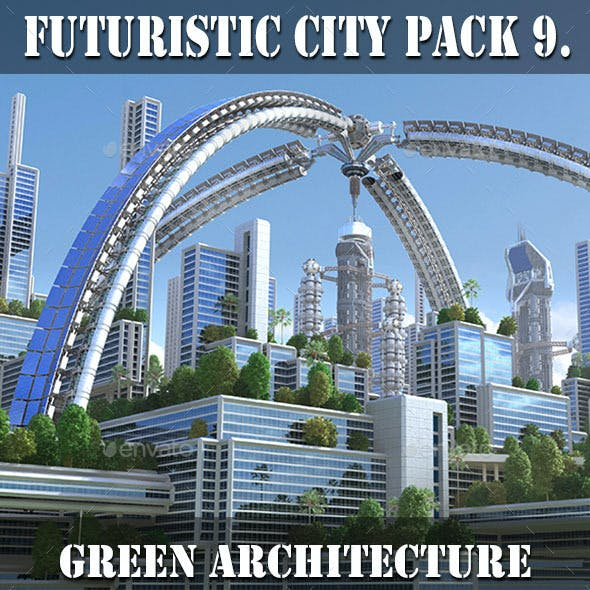 Futuristic City Pack 9. Green Architecture