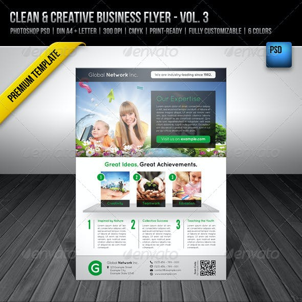 Clean & Creative Business Flyer - Vol. 3