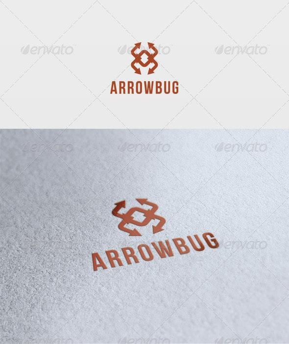 Arrow Bug Logo - Vector Abstract