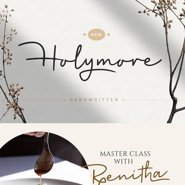 Holymore - Handwritten font