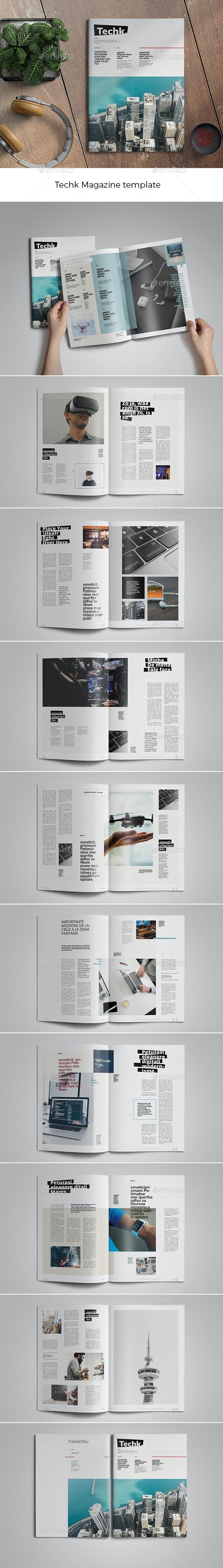 Techk Magazine Template - Magazines Print Templates