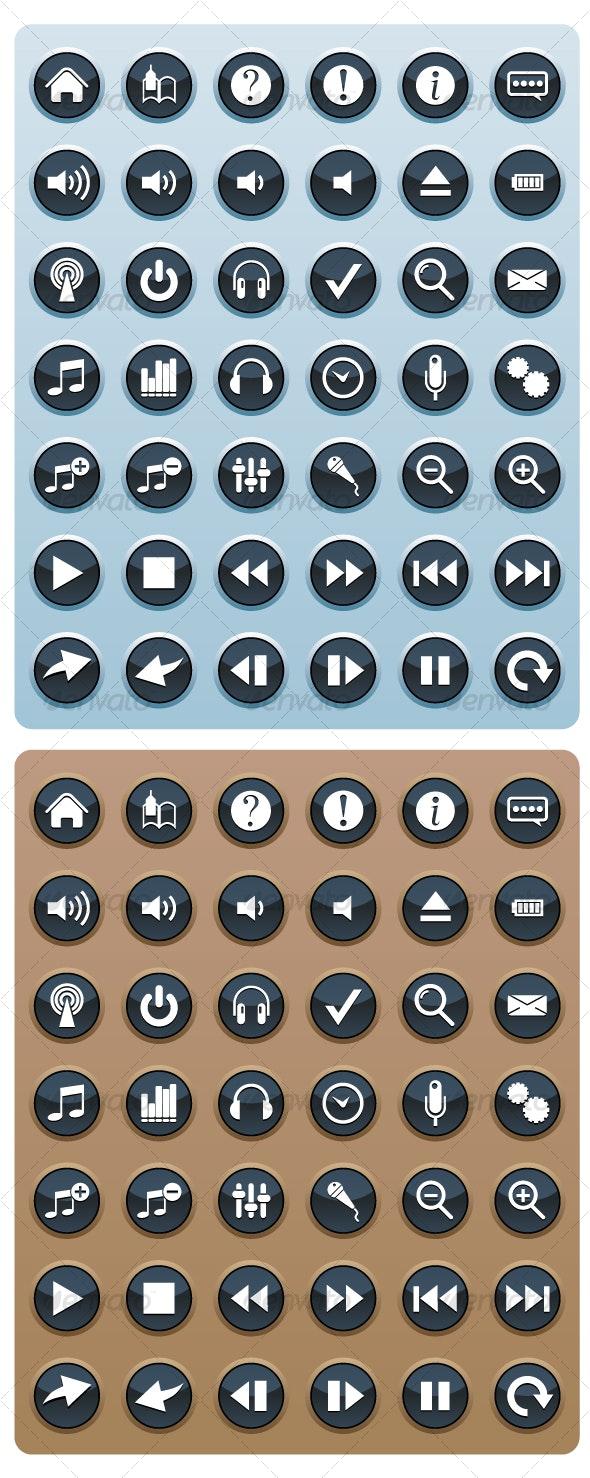 Control Panel Icons  - Web Icons