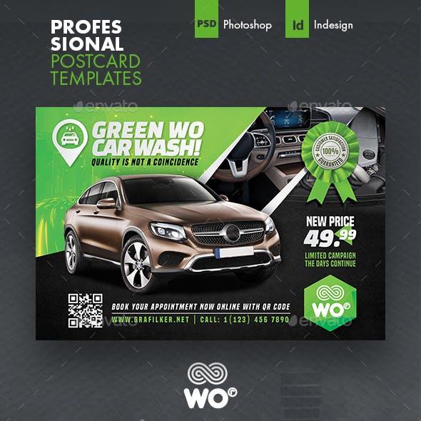 Car Wash Postcard Templates