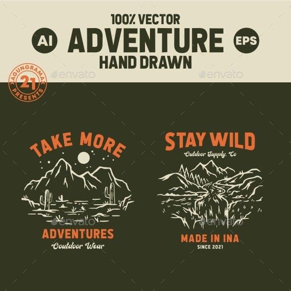 6 Set Of Adventure Hand Drawn Vol.II