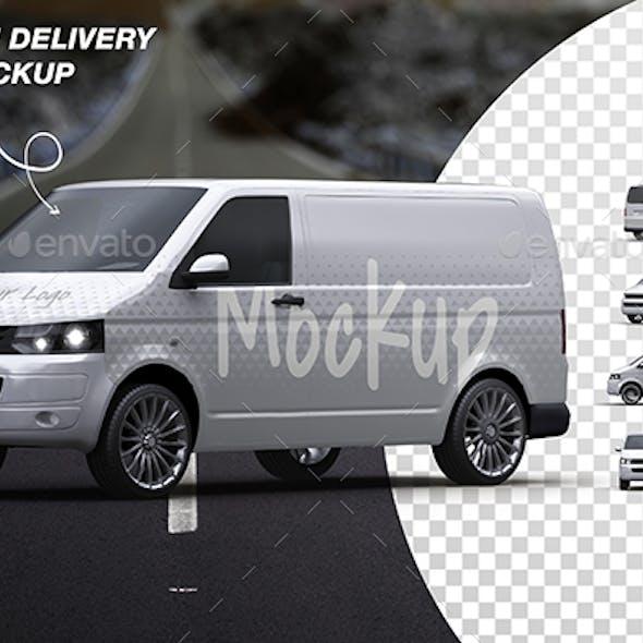 Vehicle Delivery Van Mockup