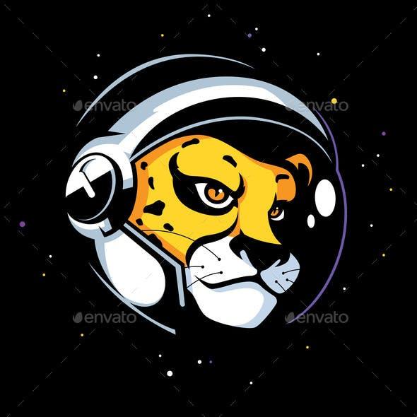 Cheetah Astronaut Mascot