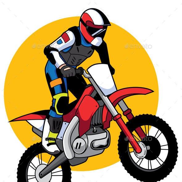 Motocross Racer Mascot