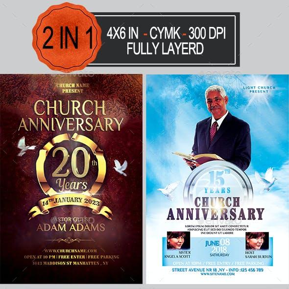 Church Anniversary Flyer Bundle