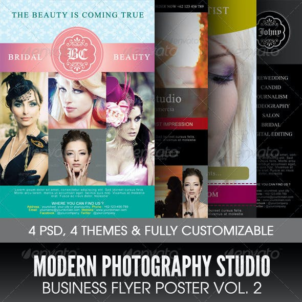 Modern Photography Studio Flyer/Poster Vol. 2