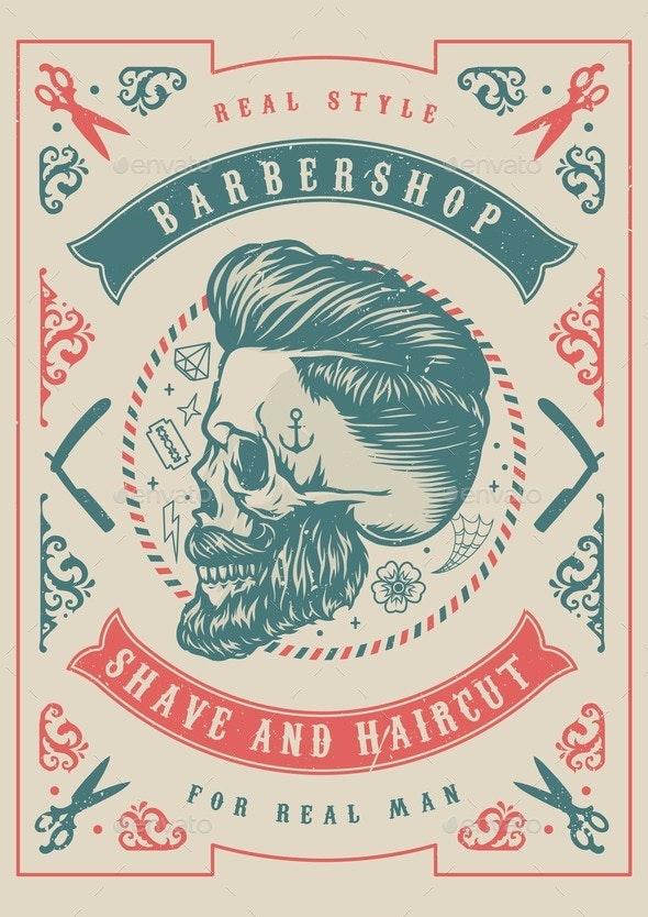 Vintage Barbershop Template - Backgrounds Decorative
