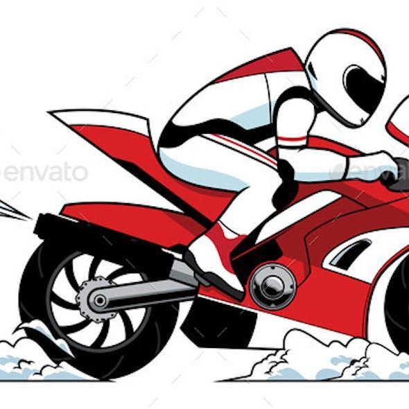 Motorcycle Racer Mascot