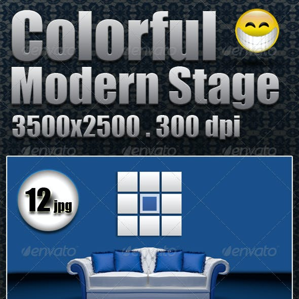 Colorful Modern Stage