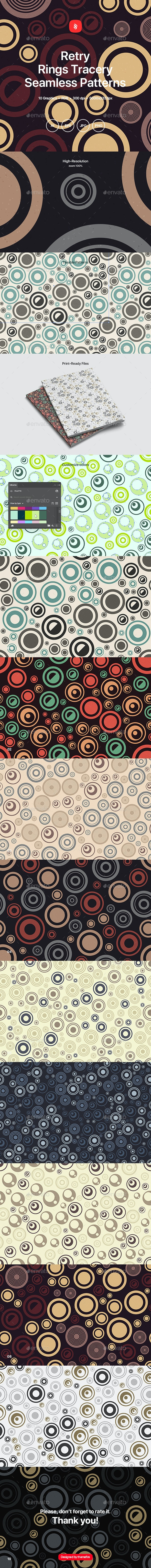 Retry - Rings Tracery Seamless Patterns - Patterns Backgrounds