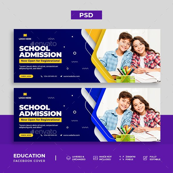 School Admission Facebook Cover