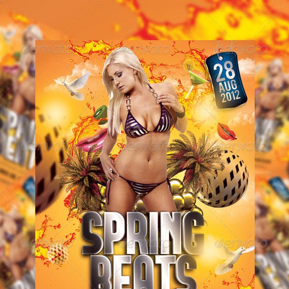 Spring Beats Party Flyer