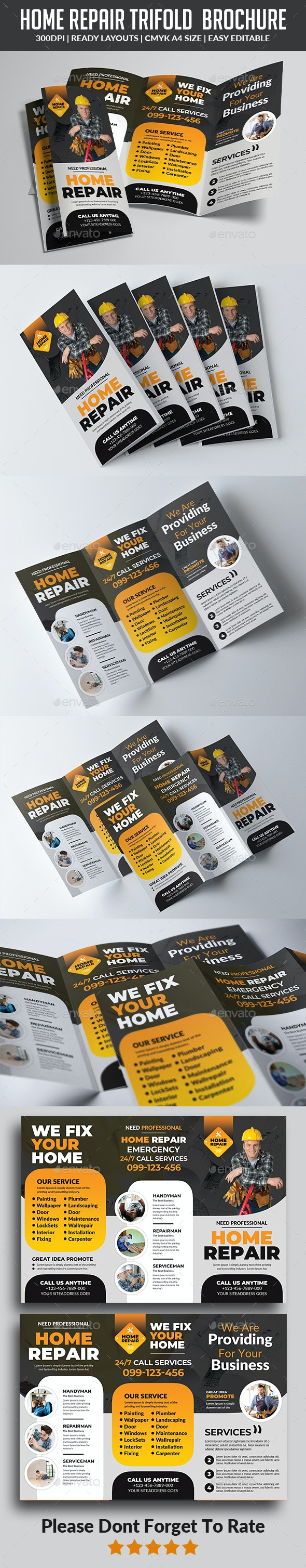 Home Repair Trifold  Brochure - Corporate Brochures