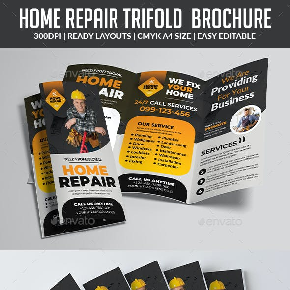Home Repair Trifold  Brochure