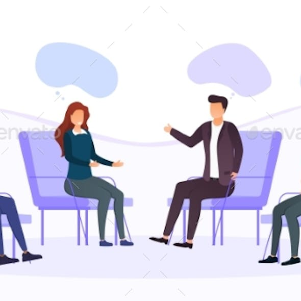 Group Therapy Addiction Treatment Concept
