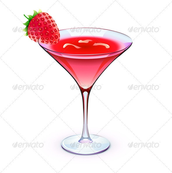 Red cocktail - Food Objects