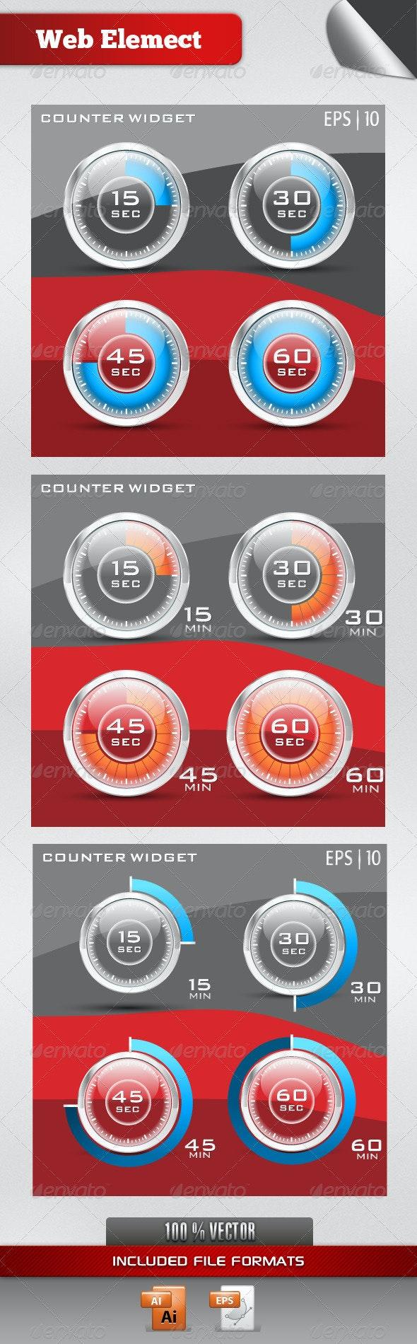 Counter Widget - Web Technology