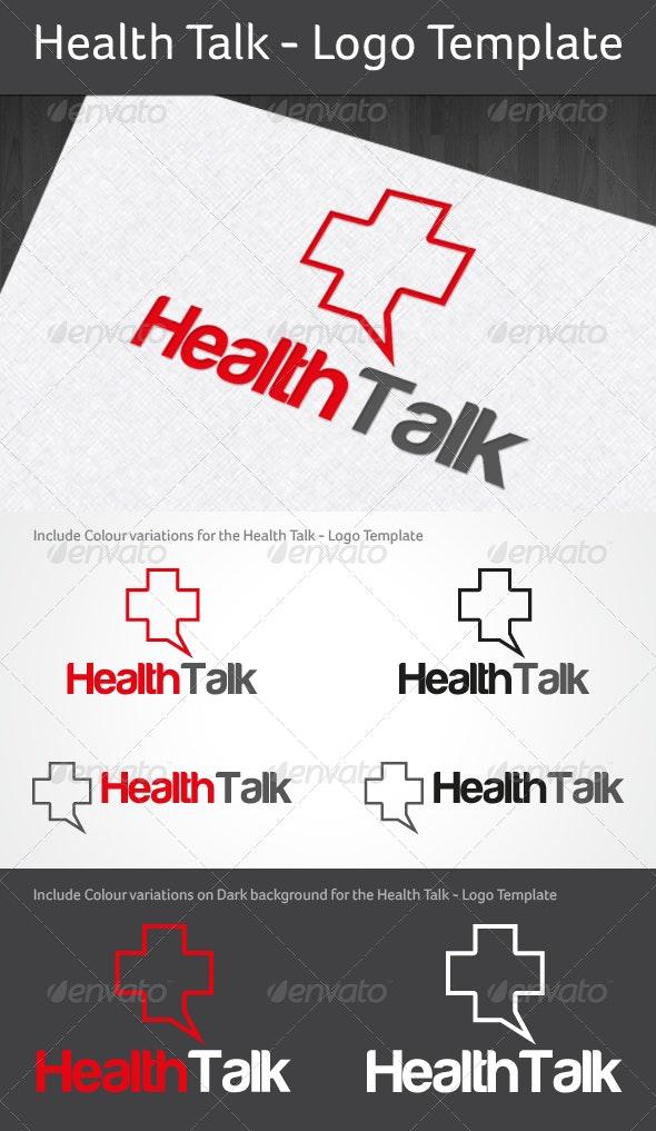 Health Talk - Logo Template - Abstract Logo Templates
