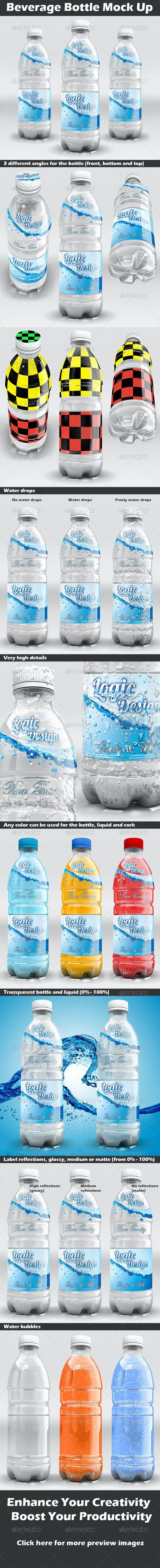 Beverage Bottle Mock Up - Food and Drink Packaging