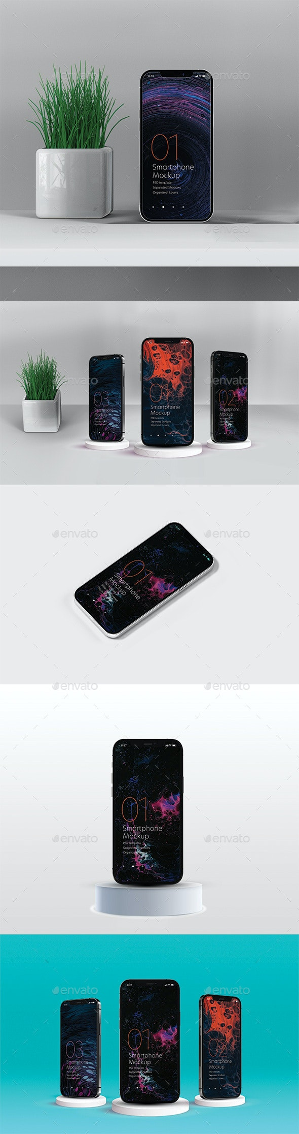 Smart Phone Mockups - Mobile Displays