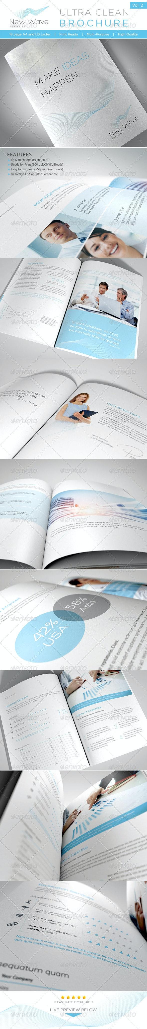 Ultra Clean Brochure Vol. 2 - Brochures Print Templates