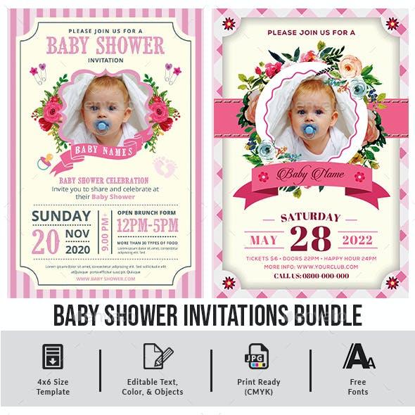 baby shower invitations Bundle