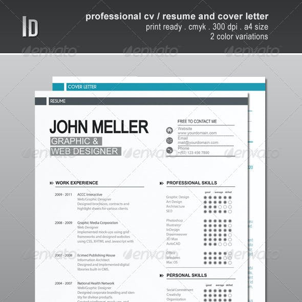 Professional Cv / Resume And Cover Letter