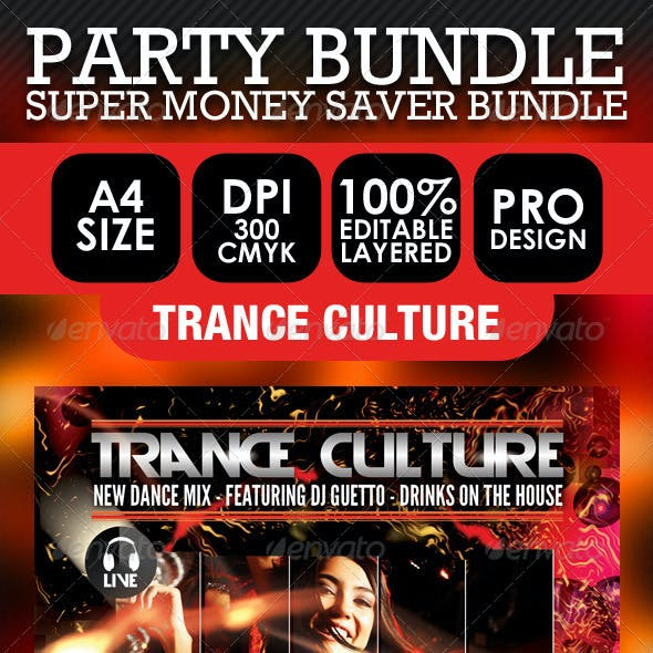 Club, Party & Event Flyer Bundle PSD Templates