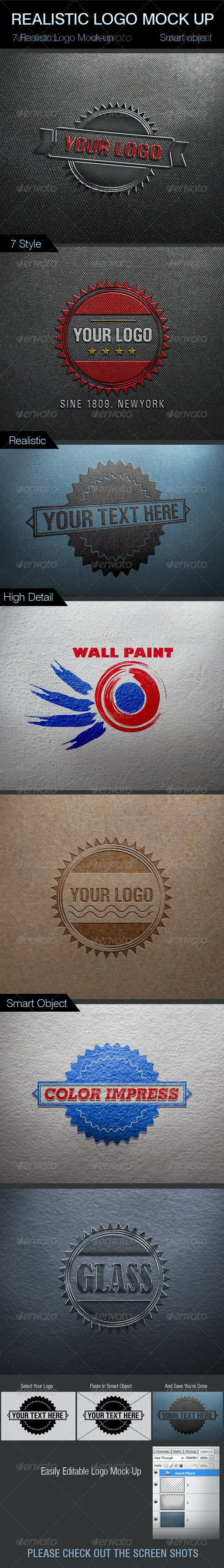 Realistic Logo Mock-Up - Logo Product Mock-Ups