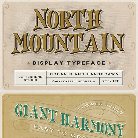 North Mountain - Display Typeface