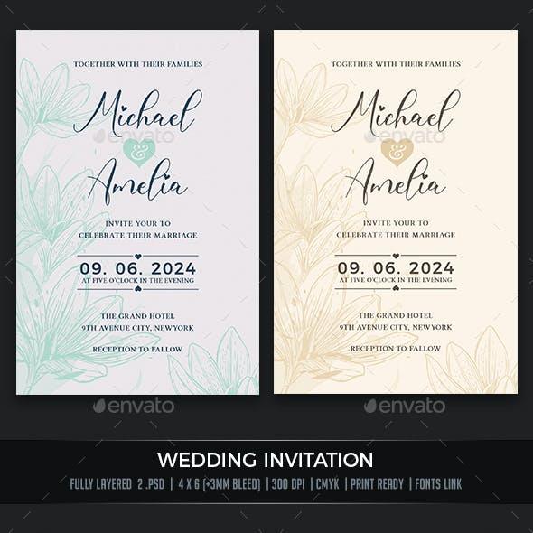 Wedding Invitation Flower
