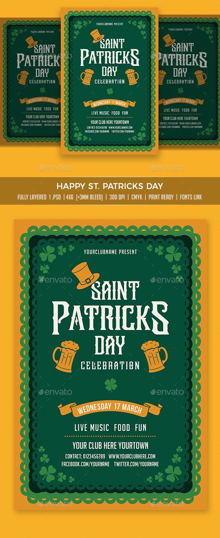 Saint Patrick Flyer - Events Flyers