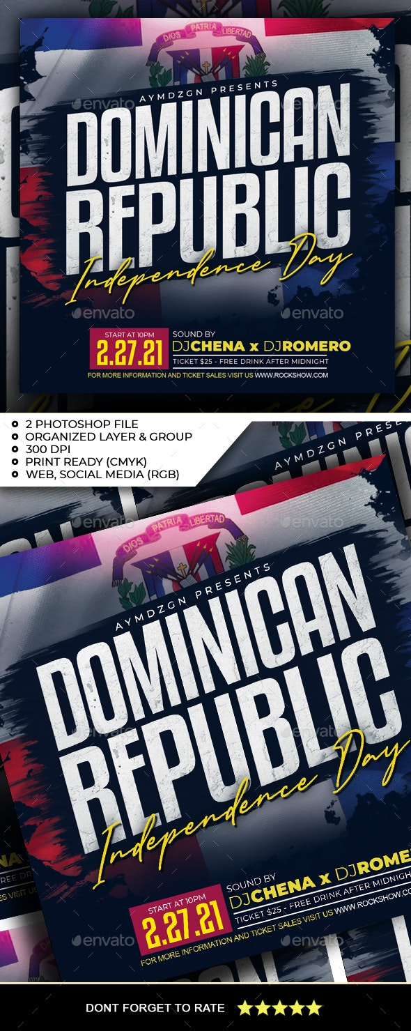 Dominican Republic Independence Day Flyer